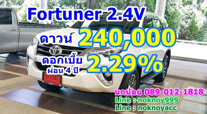Fortuner 2.4V ราคา 1,399,000 แคมเปญพิเศษ