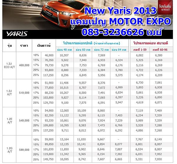 toyota new yaris 2013 motor expo